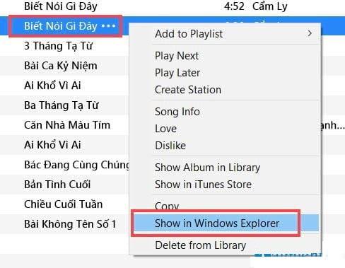 Click Show inWindows Explorer