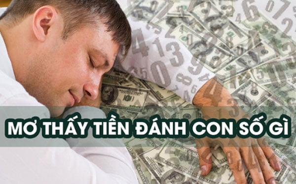 Mơ đưa tiền cho người khác đánh con gì?
