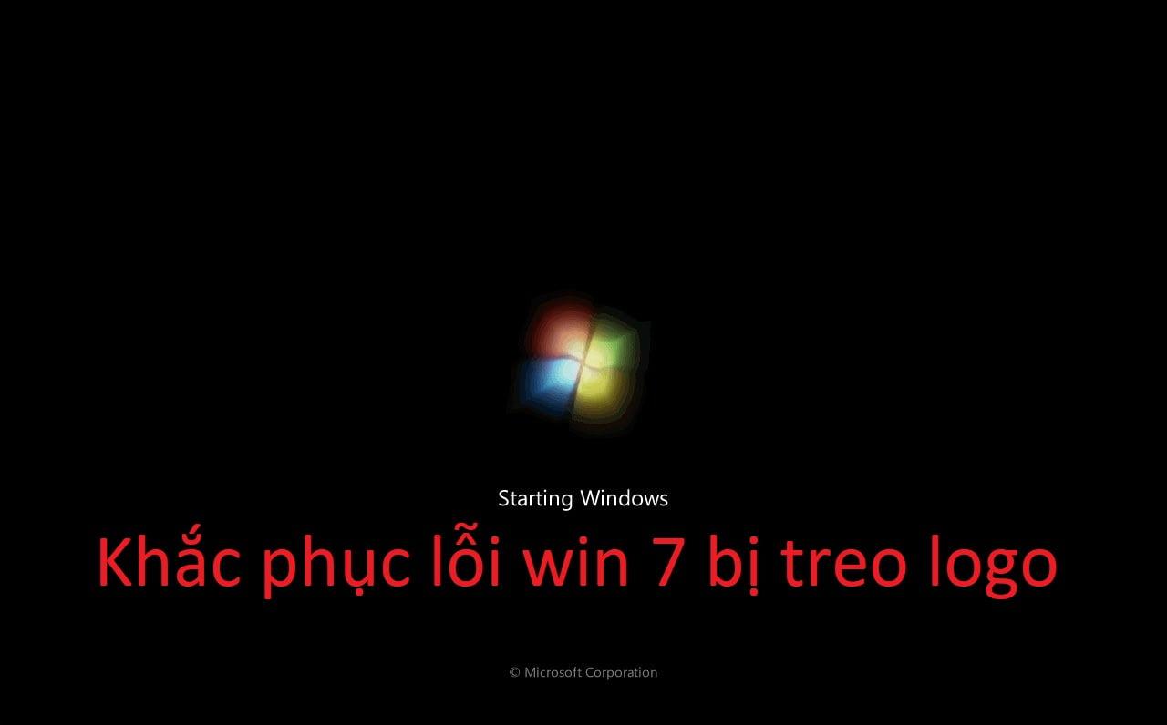Win 7 bị treo logo