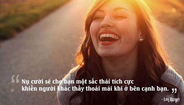 Châm ngôn hay về nụ cười